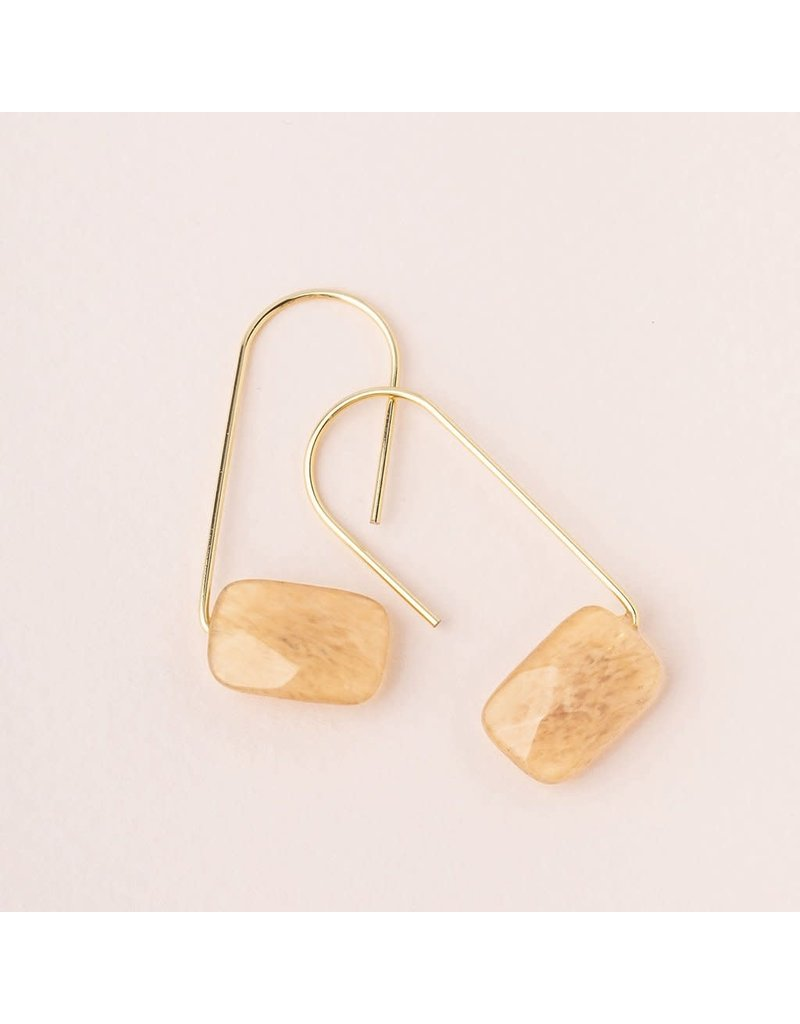 Scout Citrine Gold Floating Stone Earring