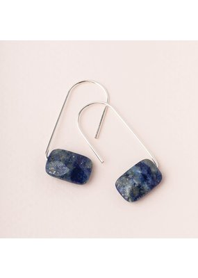 Scout Lapis Silver Floating Stone Earring