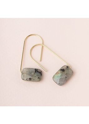 Scout Labradorite Gold Floating Stone Earring