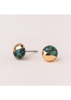 Scout African Turquoise Gold Dipped Stone Stud Earring