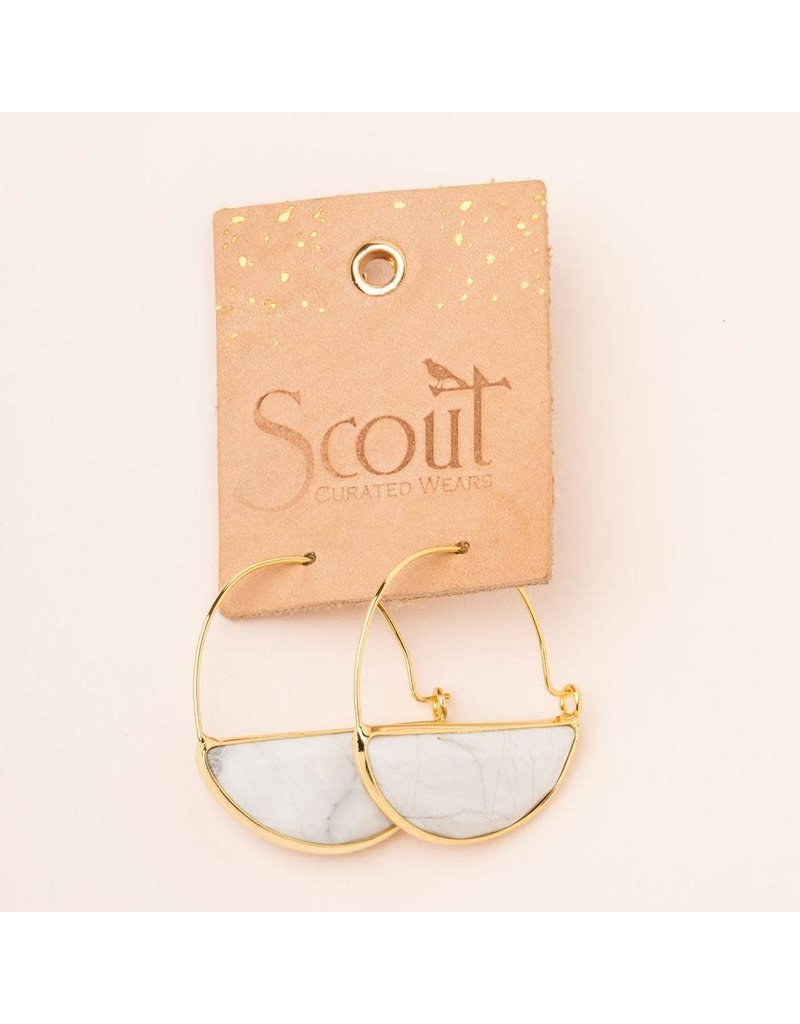 Scout Black Spinel & Gold Stone Prism Hoop Earring