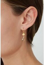 CHAN LUU Gold Light Silk Faceted Earrings