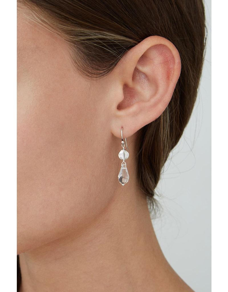 CHAN LUU Clear Crystal Faceted Earrings