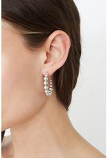 CHAN LUU Standard Grey Pearl Holly Hoop Earrings