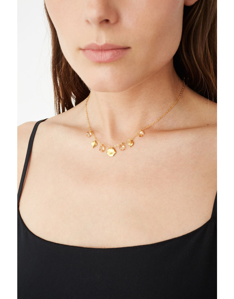 CHAN LUU Gold Golden Shadow Crystal Necklace
