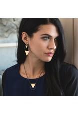 Larissa Loden Black Brass Reauleaux Necklace
