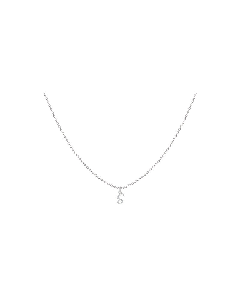 Sterling Silver Initial S Script Charm