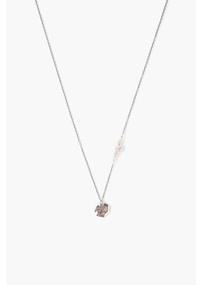 CHAN LUU White Pearl Cross And Coin Necklace