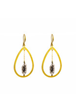 Santoré Herkimer Diamond Dangle Teardrop Earrings