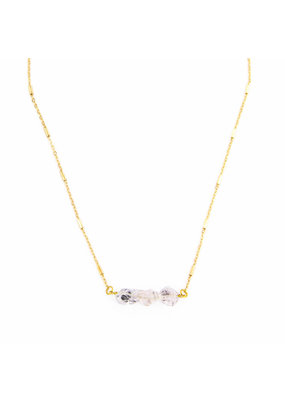 Santoré Herkimer Diamond Tripple Necklace
