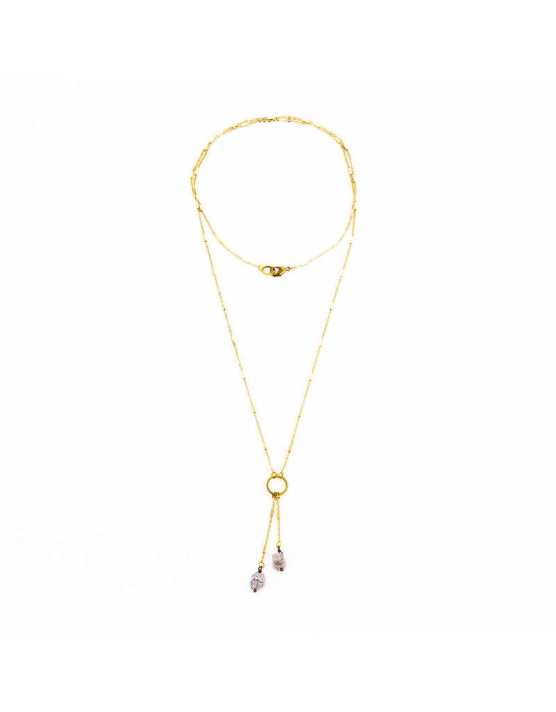 Santoré Herkimer Diamond Tassel Necklace