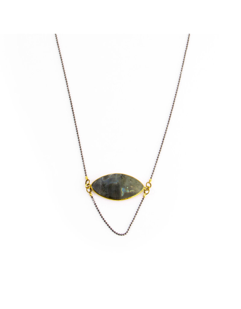 Santoré Labradorite Cat Eye Drape Necklace