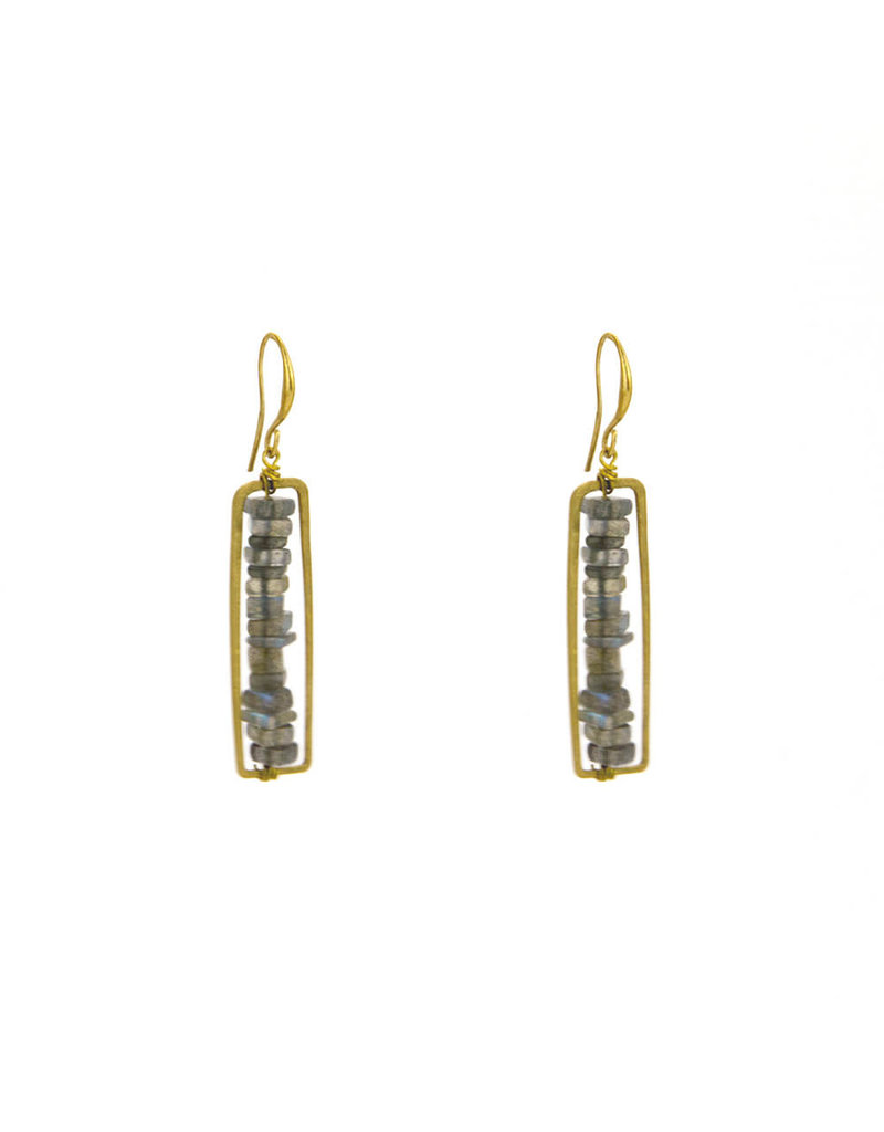 Santoré Floating Heishi Rectangle Earrings