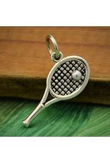 Sterling Silver Tennis Racket Charm