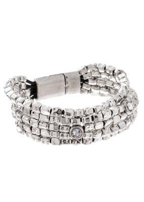 Trades Five Strand Swarovski Crystal Bracelet