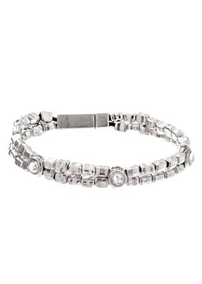 Trades Two Strand Bead Swarovski Crystal Bracelet