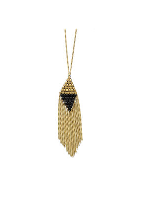 Didi Jewerly Project Brass Color Block Diamond Necklace