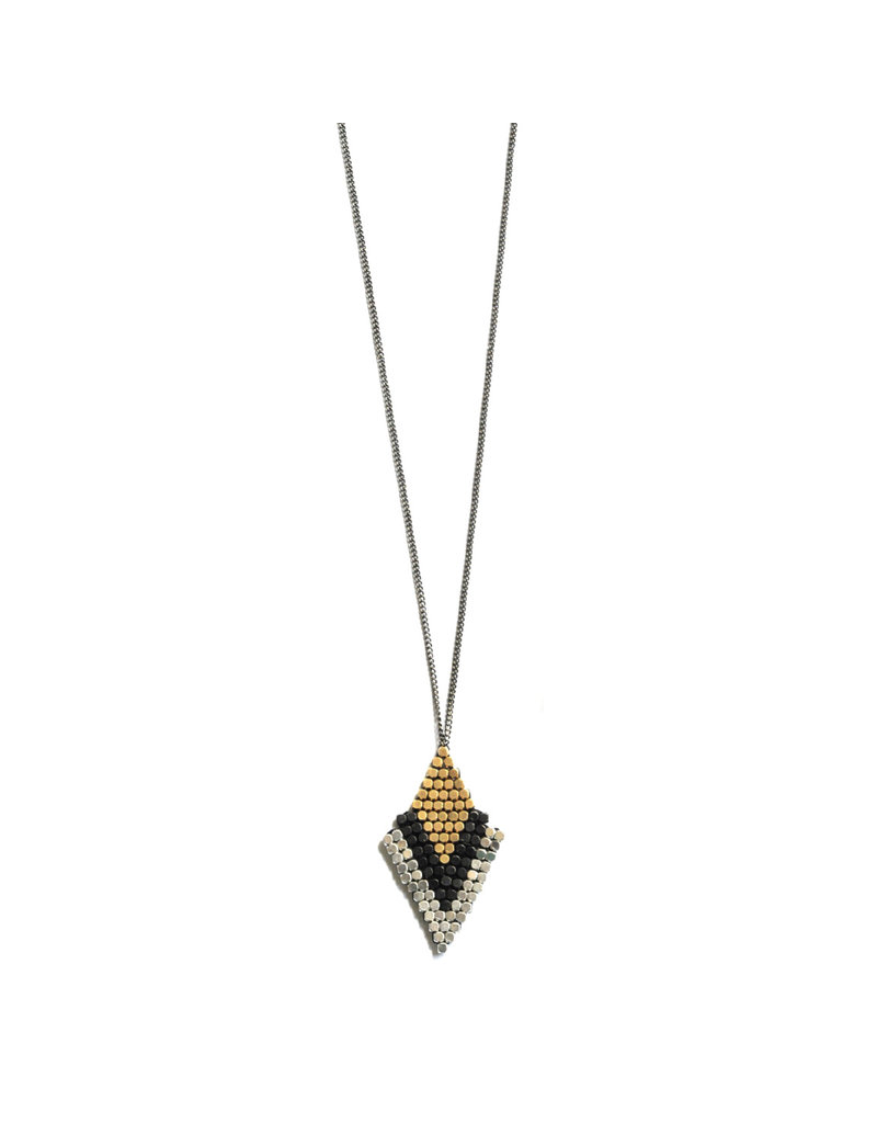 Didi Jewerly Project Mixed Metal Arrow Necklace