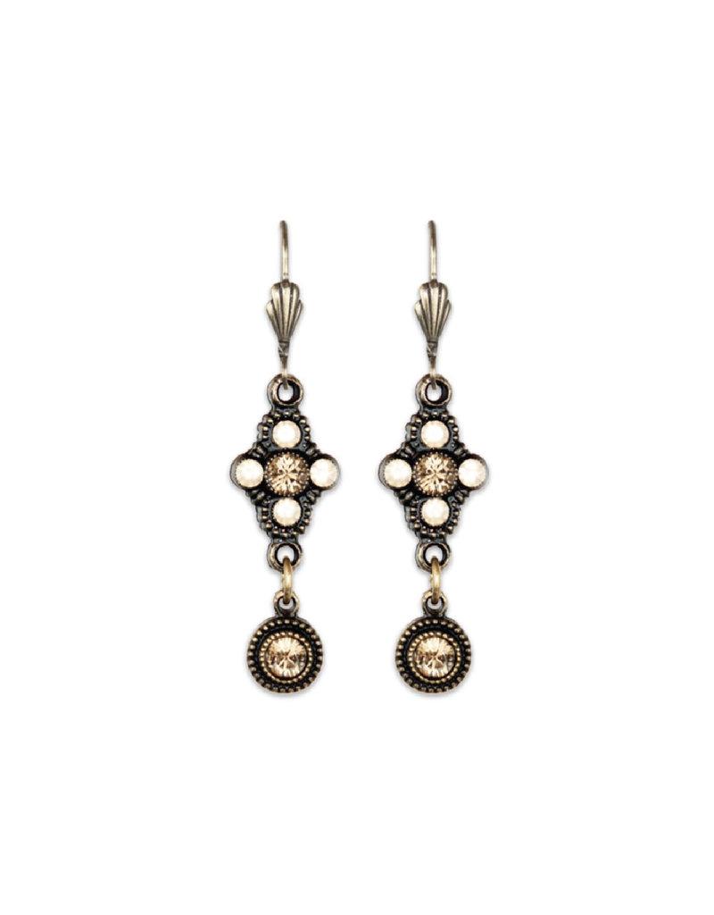 Anne Koplik Designs Golden Shadow Trefoil Drop Earring