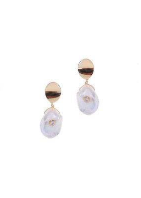 Nakamol Gold Grashiel Pearl Earrings
