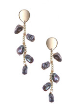 Nakamol Helga Gray Pearl Earrings