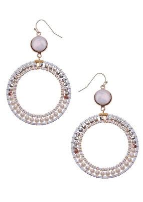 Nakamol Pearl Beaded Regina Earrings
