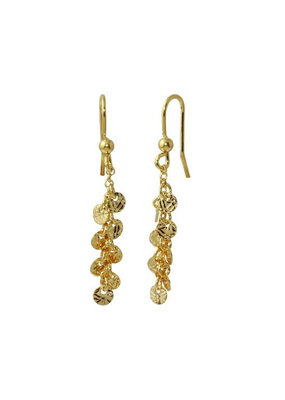 Gold Plated Sterling Dangling Confetti Earrings