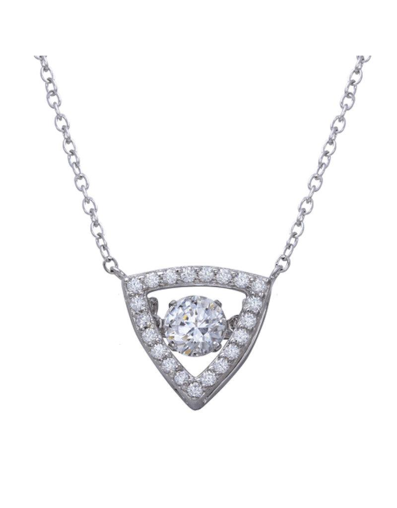 Sterling Triangle Dancing Swarovski Necklace