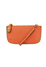 Joy Susan Orange Mini Crossbosy Wristlet Clutch