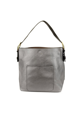 Joy Susan Pewter Hobo Black Handle Handbag
