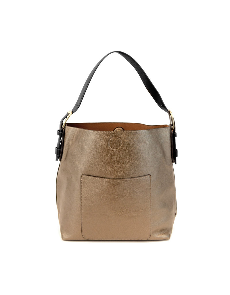 Joy Susan Bronze Hobo Black Handle Handbag