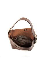 Joy Susan Brown Hobo Brown Handle Handbag