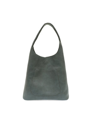 Joy Susan Dark Chambray Molly Slouchy Hobo Handbag