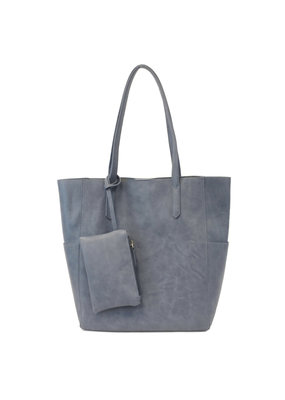 Joy Susan Denim North South Bella Tote