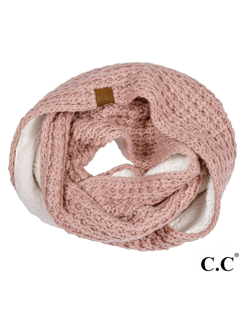 C.C. CC Rose Chunky Sherpa Lined Infinity Scarf