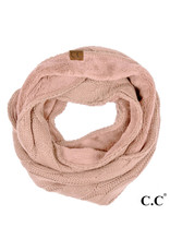 C.C. CC Rose Sherpa Lined Infinity Scarf