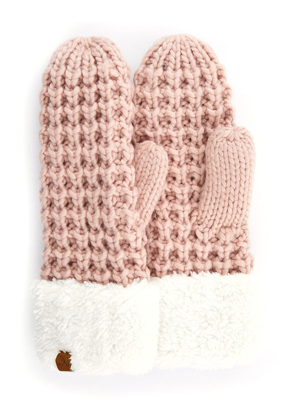 C.C. CC Rose Chunky Sherpa Lined Mittens
