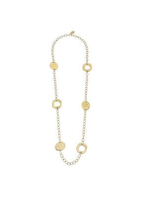 Susan Shaw Long Gold Circle Necklace