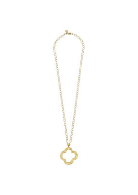 Susan Shaw Gold Clover Necklace