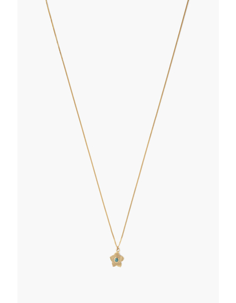 CHAN LUU Green Turquoise Flower Pendant Necklace