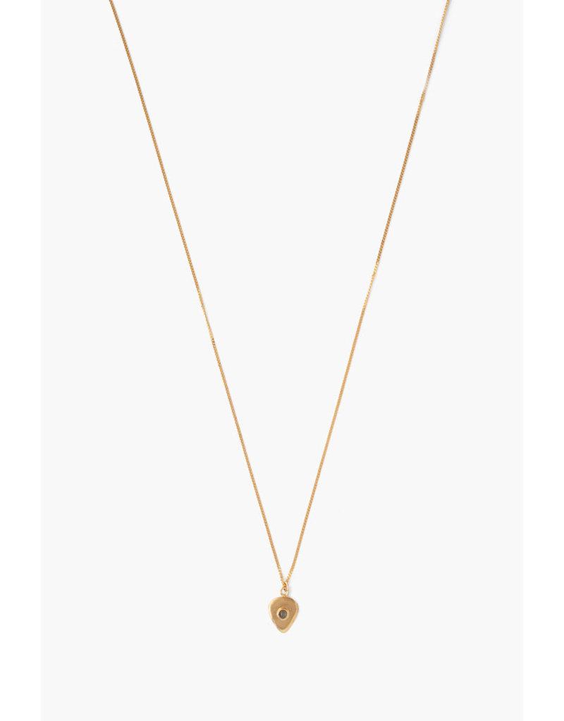 CHAN LUU Labradorite Spade Pendant Necklace