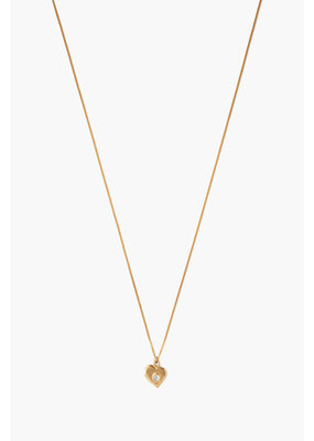 CHAN LUU Moonstone Heart Pendant Necklace