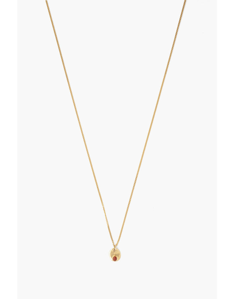 CHAN LUU Red Jasper Circle Pendant Necklace
