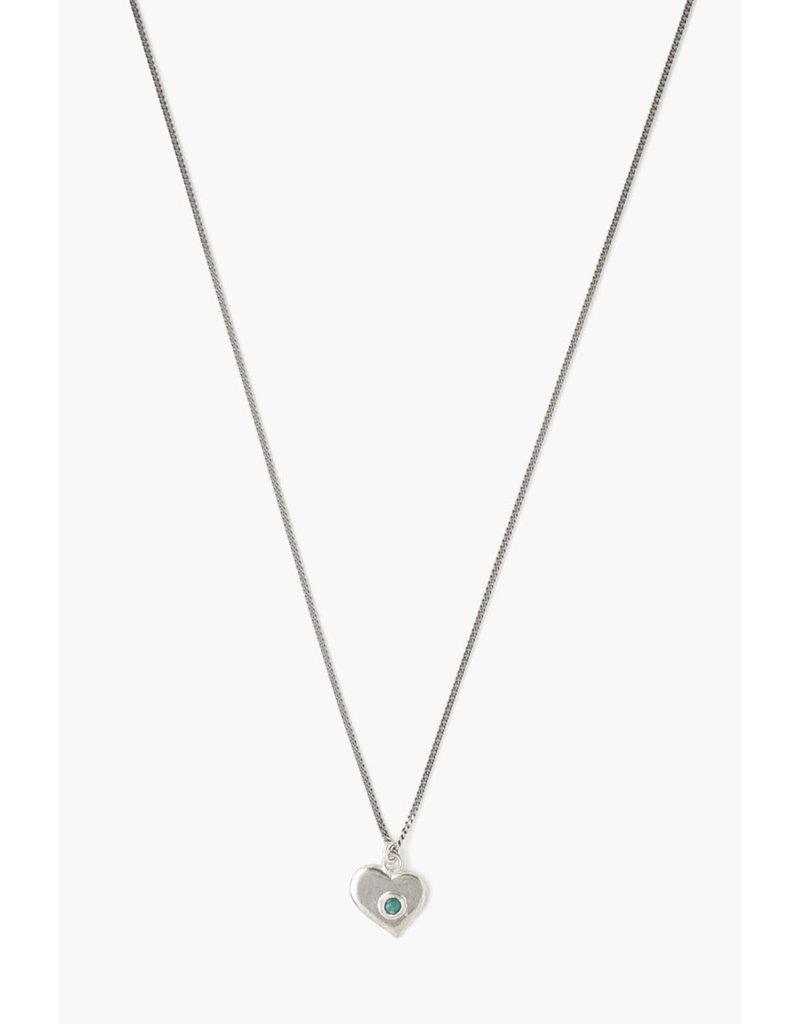 CHAN LUU Green Turquoise Heart Pendant Necklace