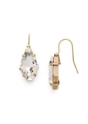 Sorrelli Diamond Drop Earring in Clear Crystal