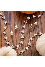 Sorrelli Diamond Drop Earring in Clear Crystal