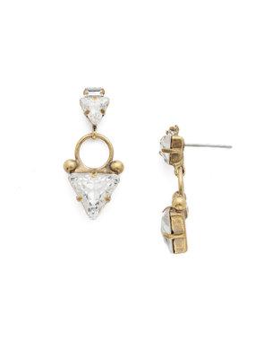 Sorrelli Tri Again Crystal Earring in Antique Gold
