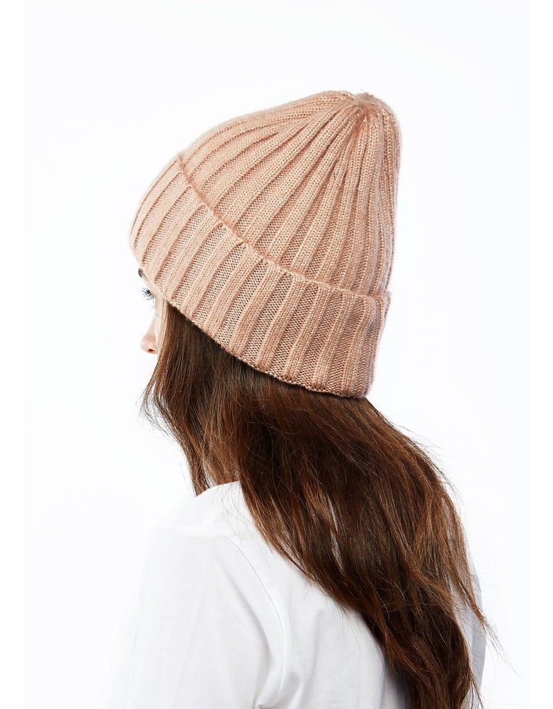 Look By M Blush Sparkled Heather Cashmere Blended Beanie