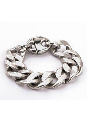 Trades Large Silver Link Bracelet