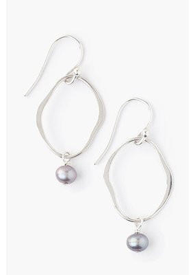 CHAN LUU Taupe Pearl Matisse Earrings